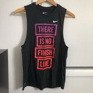 Nike Black There Is No Finish Line Athletic Tank S